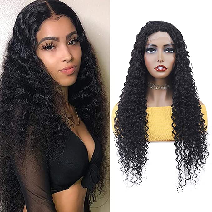 Deep Wave Lace Front Wig Human Hair Pre Plucked 16 Inch Brazilian 9a Deep Curly Wigs For Black Women 150 Density Remy Hair 4x4 Lace Closure Wigs Beauty Amazon Com