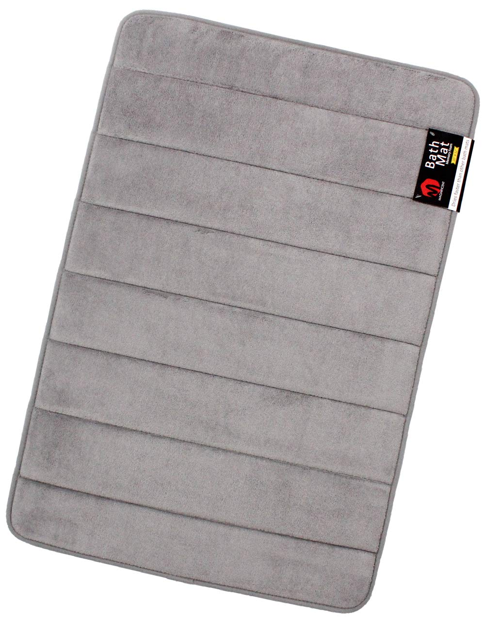 Magnificent Large (20-Inch-by-32-Inch) Soft Non-Slip Memory Foam Bath Mat, Grey