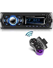 Radio de Coche Autoradio Bluetooth Manos Libres Radio Estéreo de Coche Apoyo de Reproductor MP3 con Control Remoto, Función de USB, SD, AUX