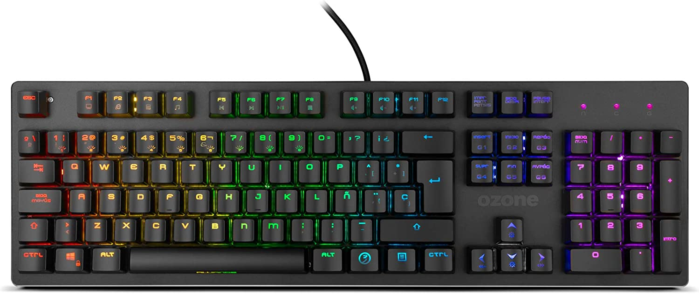 Teclado Gaming Ozone Alliance Híbrido Mecanico - Keyboard gamer - Silencioso, Numerico, Layout Español