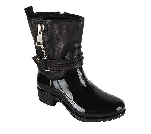Générique Botines de lluvia - niña - negro, Negro (negro), 30: Amazon.es: Zapatos y complementos
