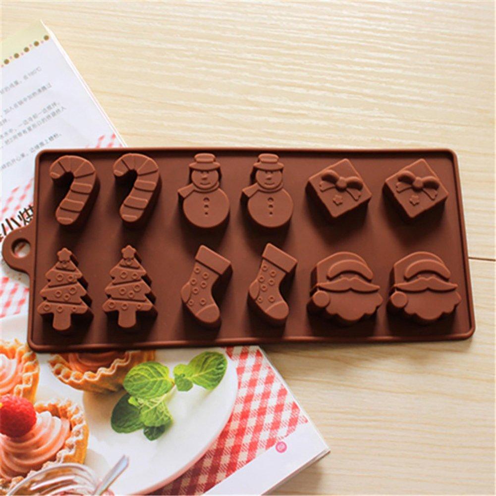 stile natalizio cubetti di ghiaccio Stampo per cubetti di ghiaccio caramelle per cioccolatini Ruby569y