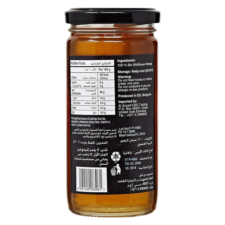 aef050ab4 Organic Larder Organic Honey with Wild Flower - 315 gm: Amazon.ae:  CarrefourUAE