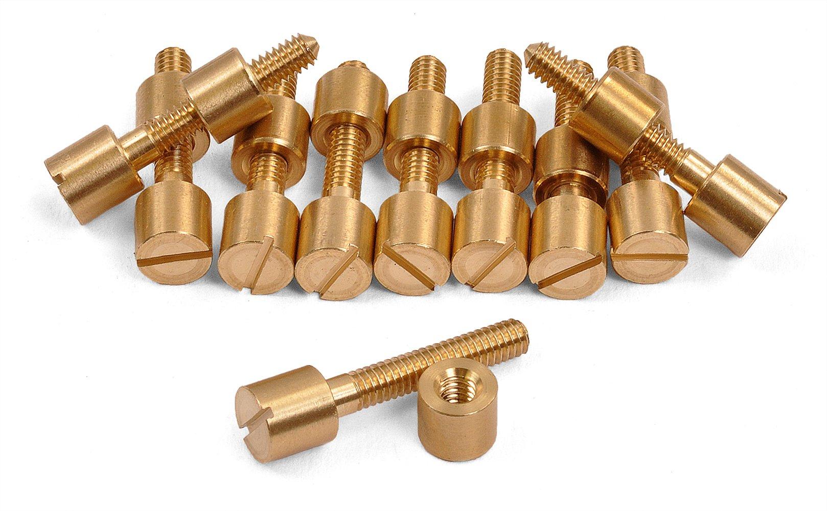10 Pack of Brass Screw Fasteners, 5/16'' Diameter Head -- 600B