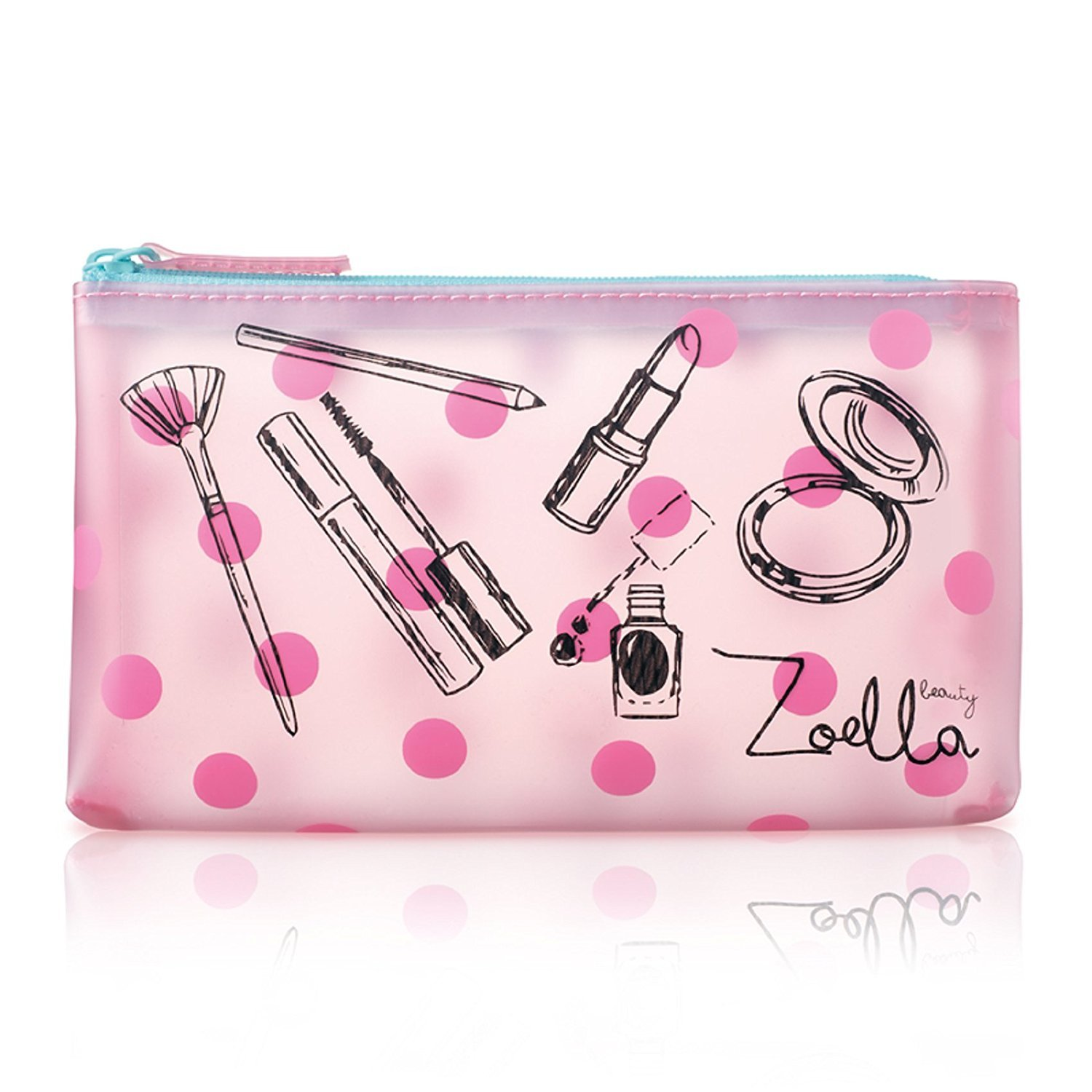 39dd47222ab7 Zoella Beauty Pink Frosted Cosmetic / Coin Purse / Make Up Bag