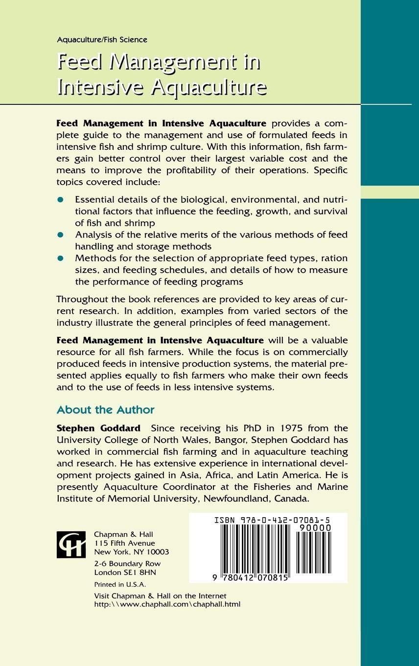 Buy Feed Management in Intensive Aquaculture Book Online at