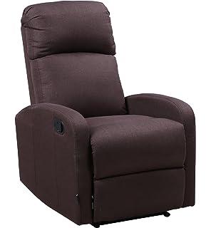 Astan Hogar Premium Relax Plus - Sillón con reclinación manual, tapizado en tela, compacto