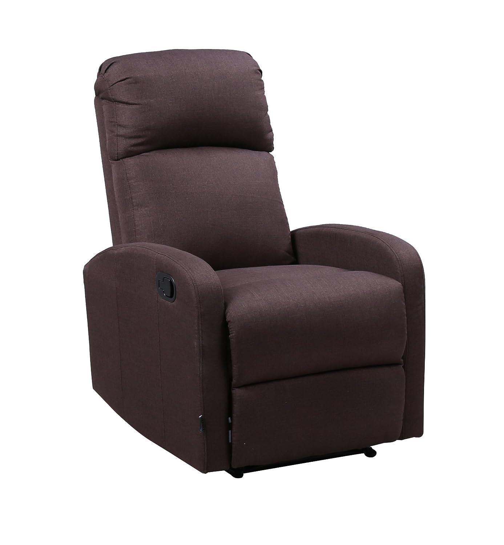 Astan Hogar Premium Relax Plus - Sillón con reclinación manual, tapizado en tela, compacto, Marrón (Chocolate): Amazon.es: Hogar