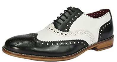 London Brogues Gatsby Mens Leather Wingtip Formal Shoes
