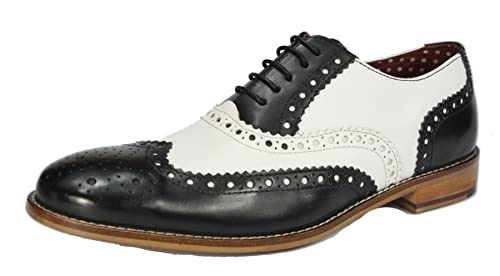 e329ef8c3257a London Brogues Mens Leather Lace Up Wingtip Formal GATSBY Evening Brogue  Shoes