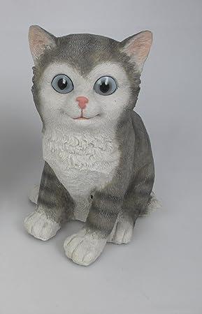 Gato de plástico con sensor de movimiento con gatos sonidos Miau: Amazon.es: Hogar