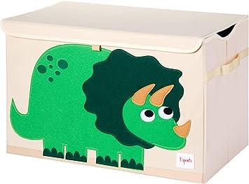 3 Sprouts - Coffre à jouets pour enfants - Coffre de rangement pour la chambre des garçons et des filles, Dinosaure: Amazon.fr: Bébés & Puériculture