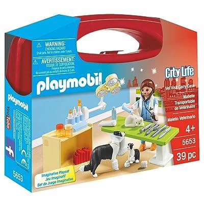 PLAYMOBIL Vet Visit Carry Case Playset: Toys & Games