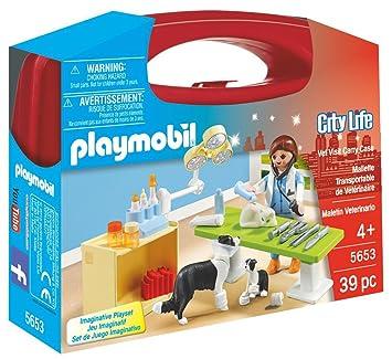PLAYMOBIL Veterinaria- Playset, Multicolor, Miscelanea (5653)