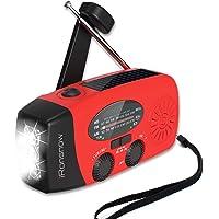iRonsnow Solar Emergency NOAA Weather Radio Dynamo Hand Crank Self Powered AM FM WB Radios 3 LED Flashlight 1000mAh…