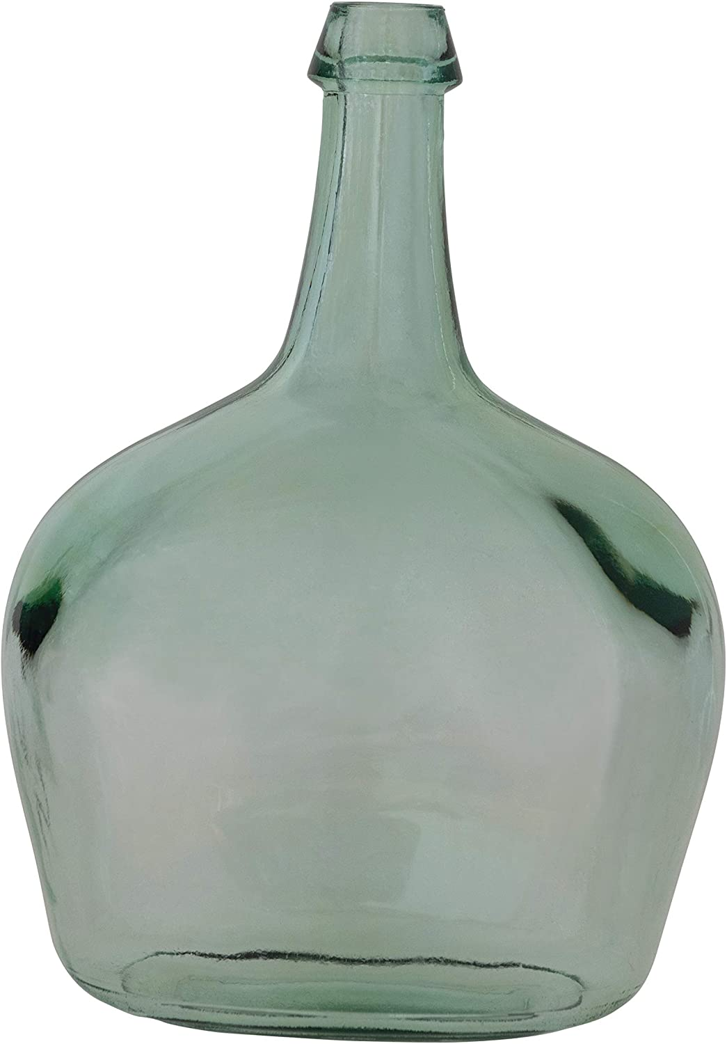 Creative Co-op Decorative Recycled Glass Bottle, Clear