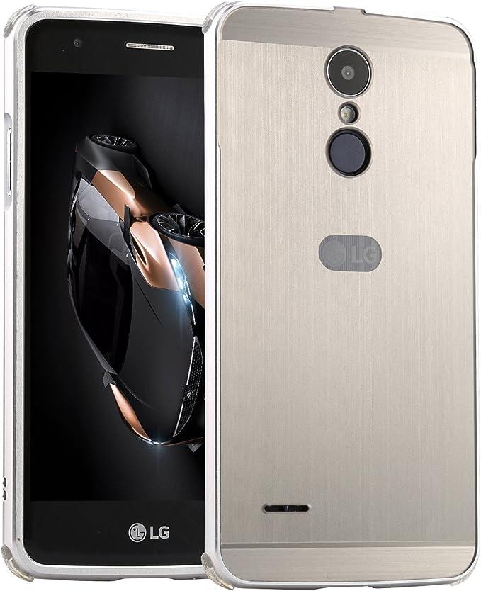 LXHGrowH Funda LG K10 2017, Prueba de Golpes Aluminio Metal Bumper ...
