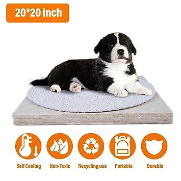 Noahas 20 X 20 Pet Cooling Mat Dog Cooling Pad Natural Jute Fiber Resistant Dirty Scratch Resistant Pet Cushion Dog Accessories To Help Your Pet