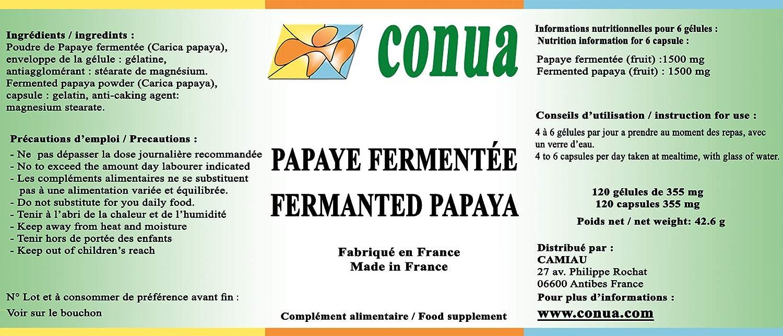 Papaya fermentada 120 cápsulas: el estrés oxidativo - antioxidante, estimula el sistema inmunológico