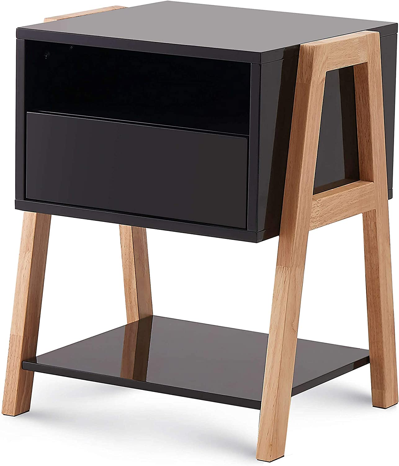 TaoHFE End Table with Drawer 3-Tier