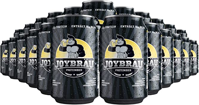 Joy proteína Bräu cerveza – sin alcohol – 21 G de proteínas ...