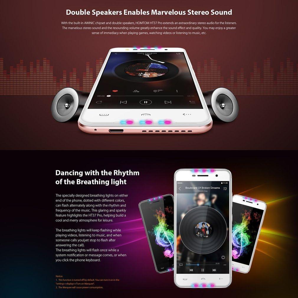 Teléfono móvil Pro Smartphone HT37 de Homtom: Amazon.es: Electrónica
