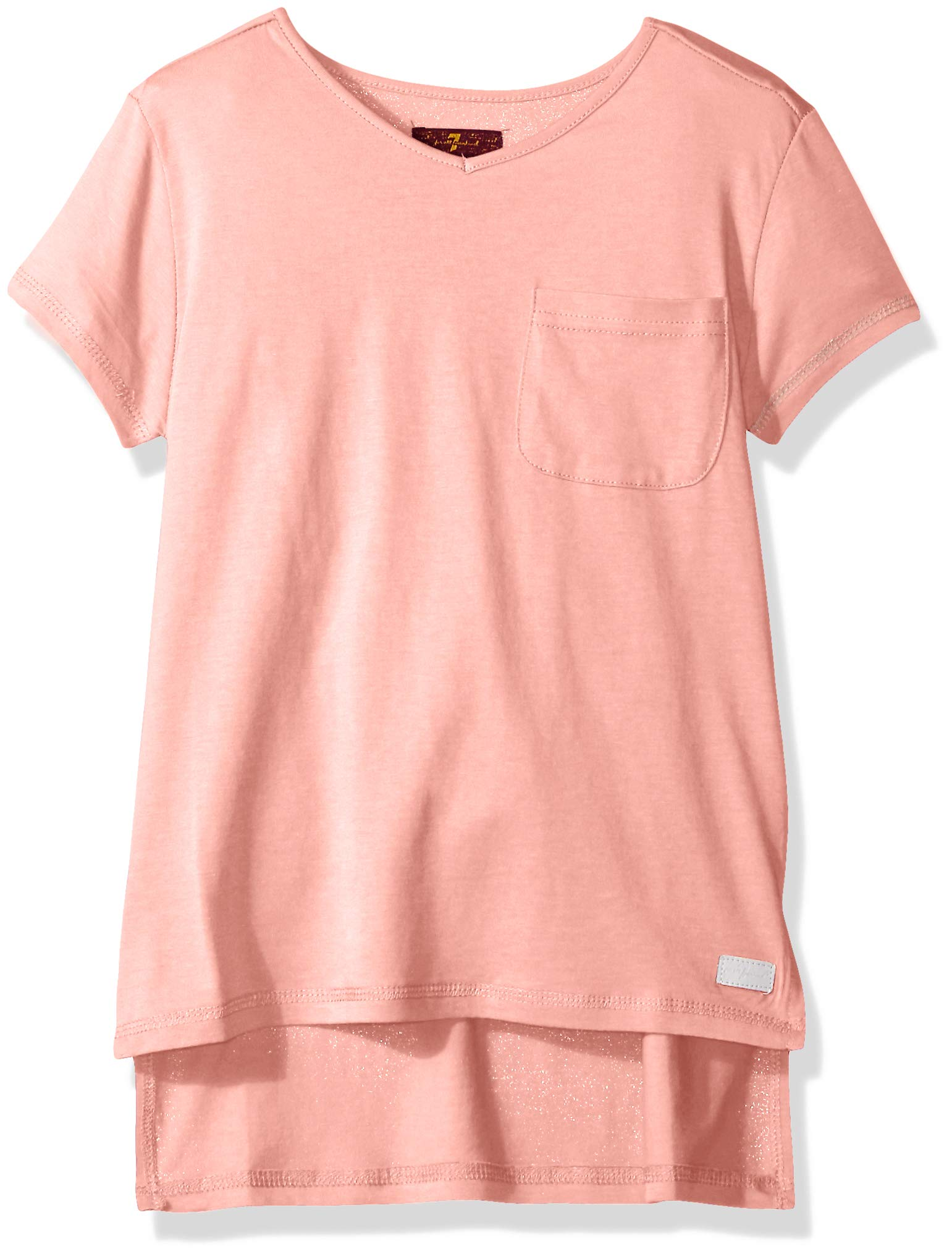7 For All Mankind Girls' High Low T-Shirt