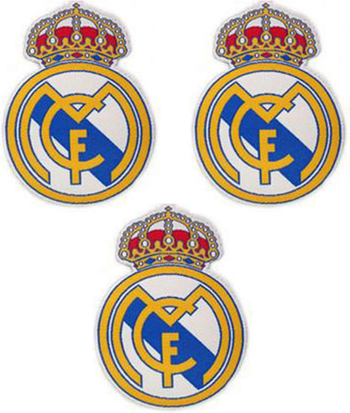 3 Pieces Soccer Team Patches Sew On//Iron On Football Club Emblem Sports Applique Accessories Decoration Patches for Jeans Jacket Clothing Handbag Shoes Caps