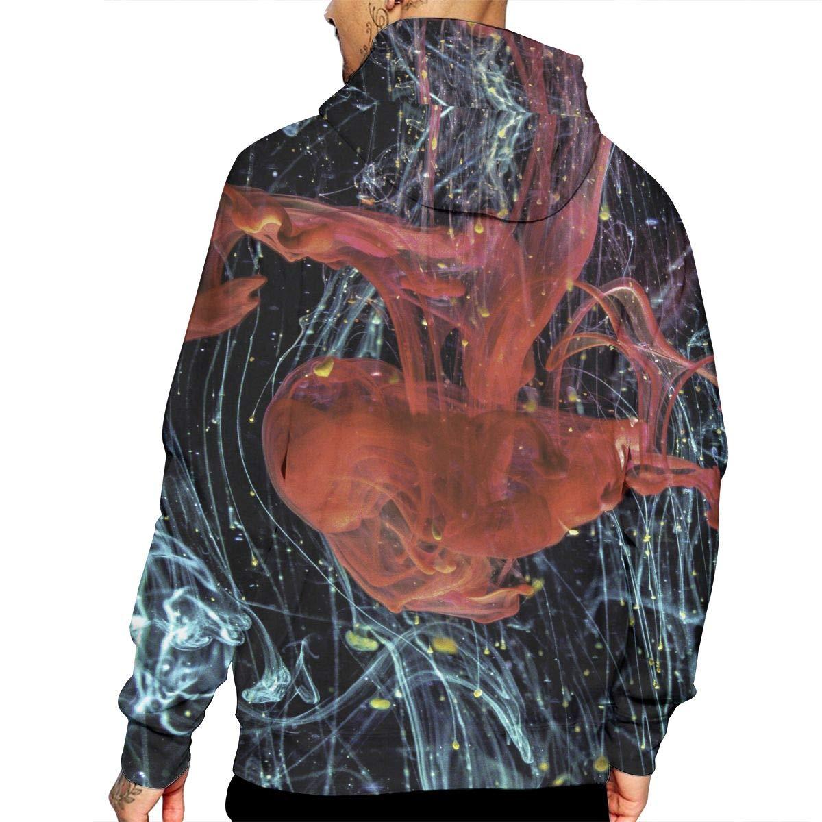 The Mens Hoodie Long Sleeves and Has A Hat. WeiGin Geometric Irregularity Hooded Sweatshirt