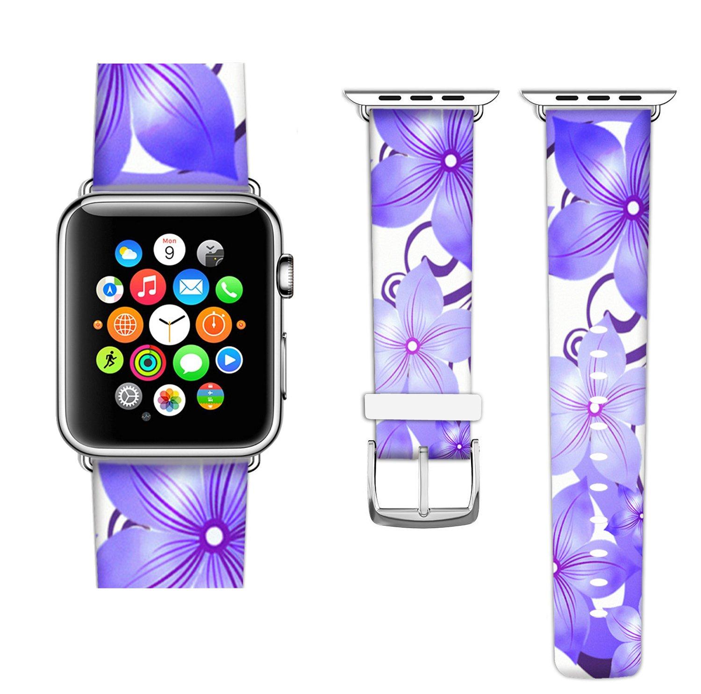Amazon.com: Apple Watch Banda de la mujer, ecute de piel ...