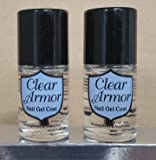 Set of 2 - Pink Armor (CLEAR) Nail Gel Growth