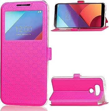 SUNWAY LG G6 Case, [Ling Grid Series] Premium PU Leather TPU Card ...