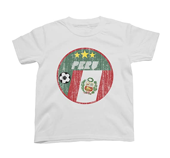 Nazionale Buzz Circle Retro Maglietta Bandiera Peru Bambino Shirts YeH9WDIE2