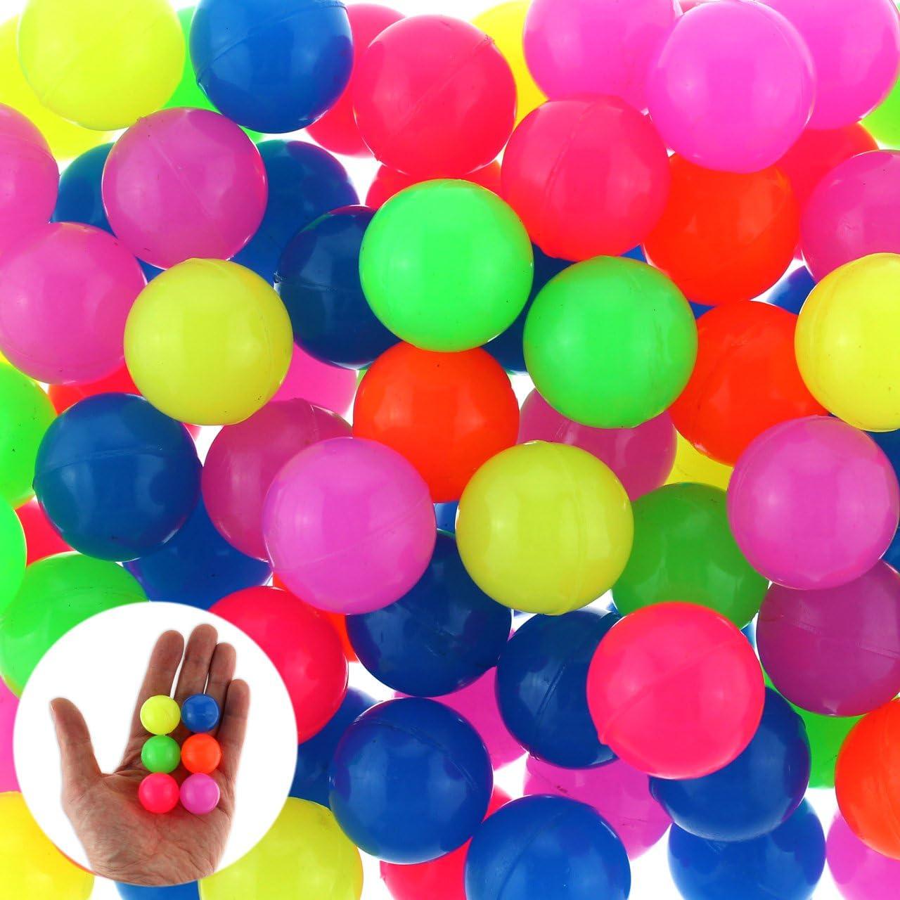 24/x Flummi Dops Balle en caoutchouc Fluo Multicolore 25/mm Petit cadeau