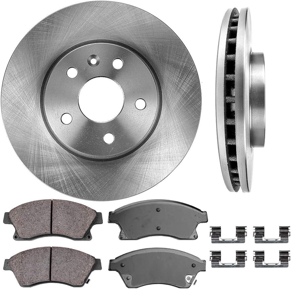 High-End Fits:- 5lug 4 Cross-Drilled Disc Brake Rotors 8 Ceramic Pads Front+Rear Kit