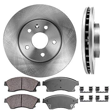 Amazon.com: Juego de 2 rotores de disco de freno originales ...