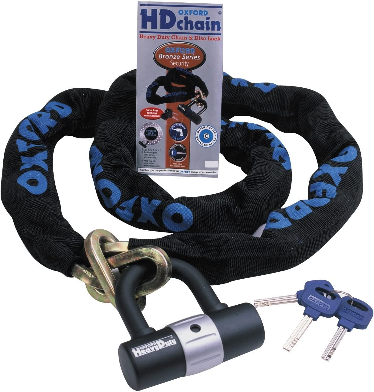 Oxford Bicycle//Gates//Travel Chain Lock Strong  Black RRP 29.99 UK 30 Inch Full