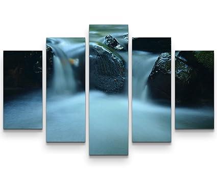 Piccolo Bagno Ufficio : Sin us quadro su tela cm cascata di un piccolo ruscello