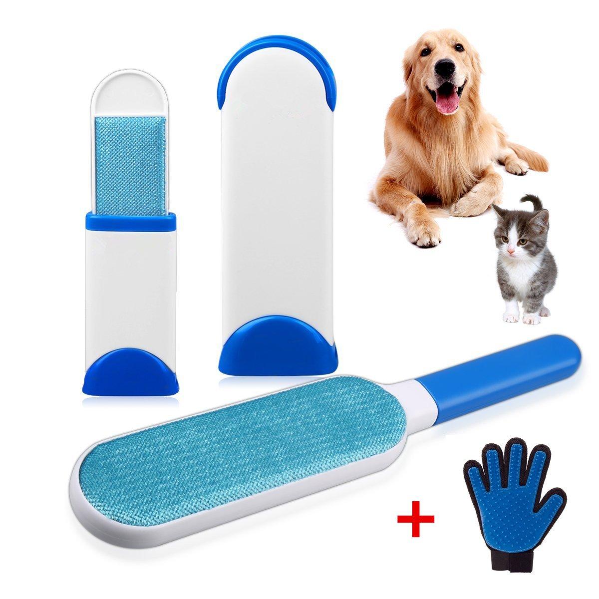 Pet Fur Animali Cane Grande Pelz Zauberer Spazzola Blu Cappotto Maglione Magic Riutilizzabili Pet Hair Maglione Cappotto Wizard Pet & Lint Remover (blu) LONG JUAN FENG