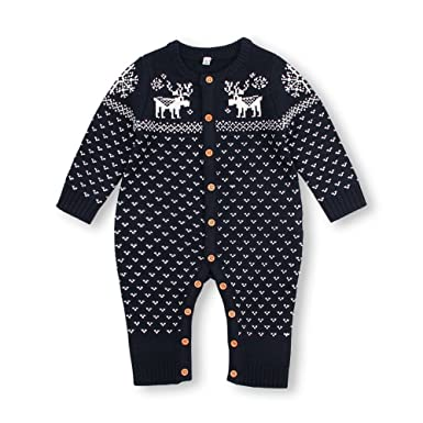 86029a0b58b4 Amazon.com  mimixiong Baby Christmas Sweater Toddler Reindeer ...