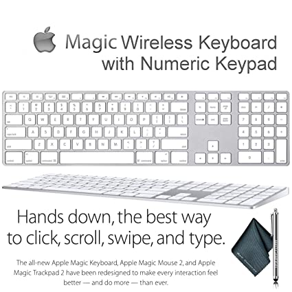 aefec7d7100 Amazon.com: Magic Wireless Keyboard with Numeric Keypad for Apple Mac  Desktop Computers/Laptops: Computers & Accessories