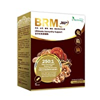 Lifestream BRM360 - Advanced Immune Support & Maintain Natural Killer Cell Activity; 250X Concentrated of 6 Therapeutic Mushrooms Lingzhi, Yunzhi, Maitake, Shiitake, Agaricus Blazei Murill & Cordyceps
