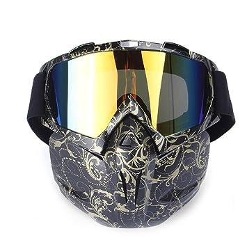 Blisfille Gafas de Seguridad Soldador Gafas Hombre de Sol,Oro Negro: Amazon.es: Deportes y aire libre