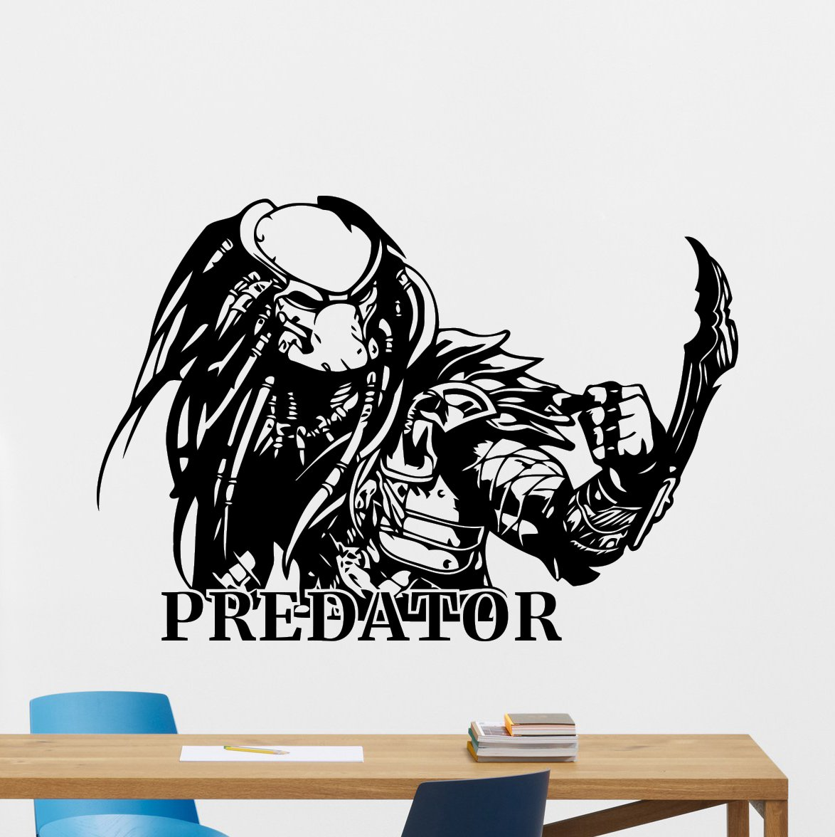 Predator wall decal comics cartoons cool decals vinyl sticker superhero alien movie mortal kombat x wall art design housewares kids room bedroom decor
