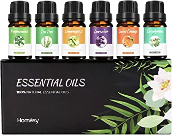Homasy Aromatherapy Essential Oil Set, 100% Pure Essential Oils Gift Set