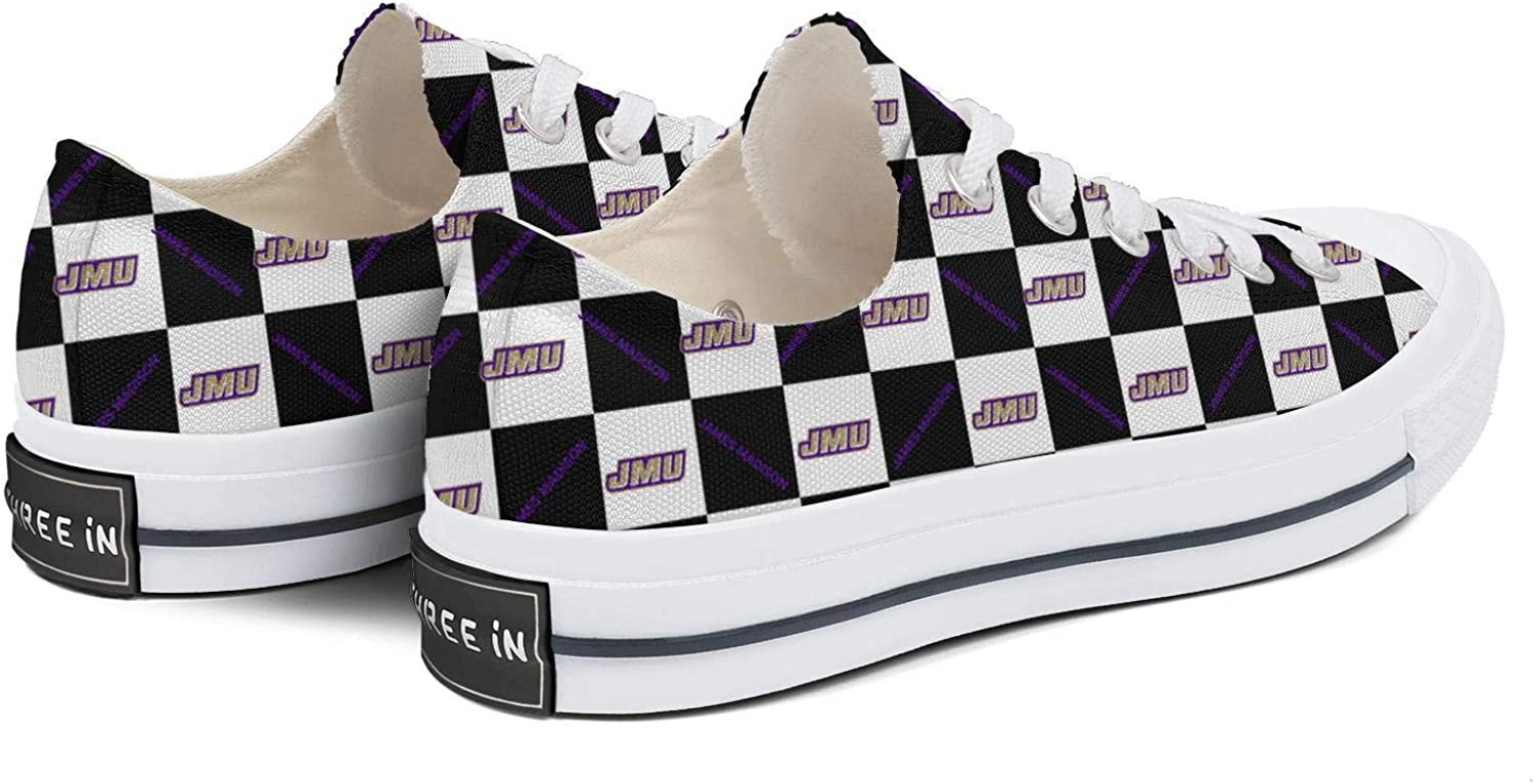 BOINN Womens Low Top Lace Up Skateboard Canvas Shoe Non-Slip Awesome Athletic Walking Sneakers