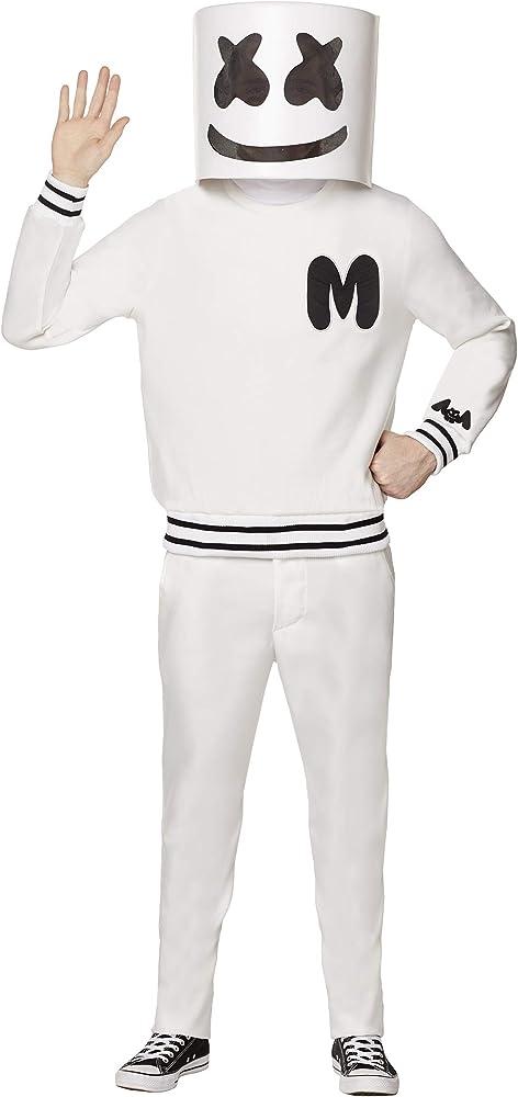 Kids Boys LED MarshMello DJ Mask Sweatshirt Sets Cosplay Costume Party Outfits