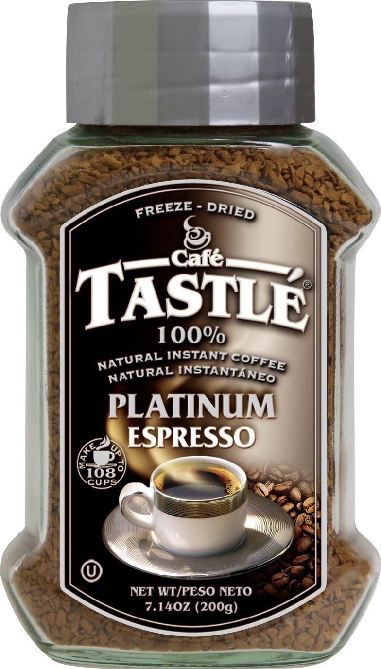 Cafe Tastle Platinum Espresso Freeze Dried Instant Coffee, 7.14 Ounce