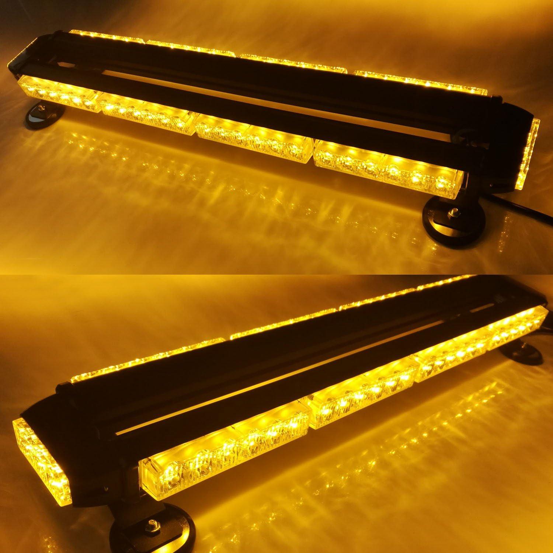 5-Bar Evershine Signal ES-318-5 32.3 Heroic Spirit Beetle Shape Emergency Warning Traffic Advisor Vehicle Roof Strobe Light Bar with LEDs on Four Sides Optional 66W 12V DC-Amber