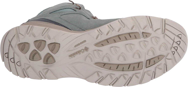 Columbia Newton Ridge Plus Waterproof Amped, Chaussure de randonnée Femme Lichen Clair Toile